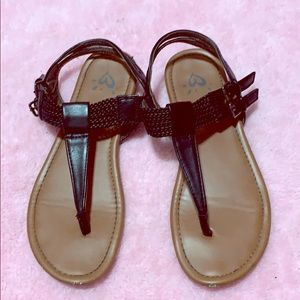 JUSTICE sandals - big girl size 3 -good condition